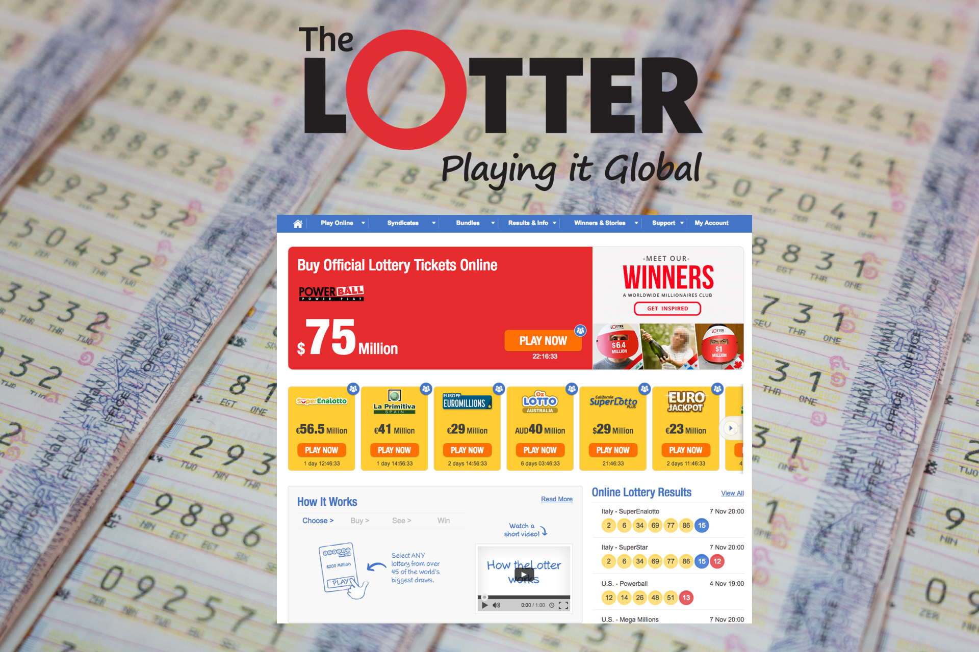 There are over 95 types of online lotteries available on TheLotter.