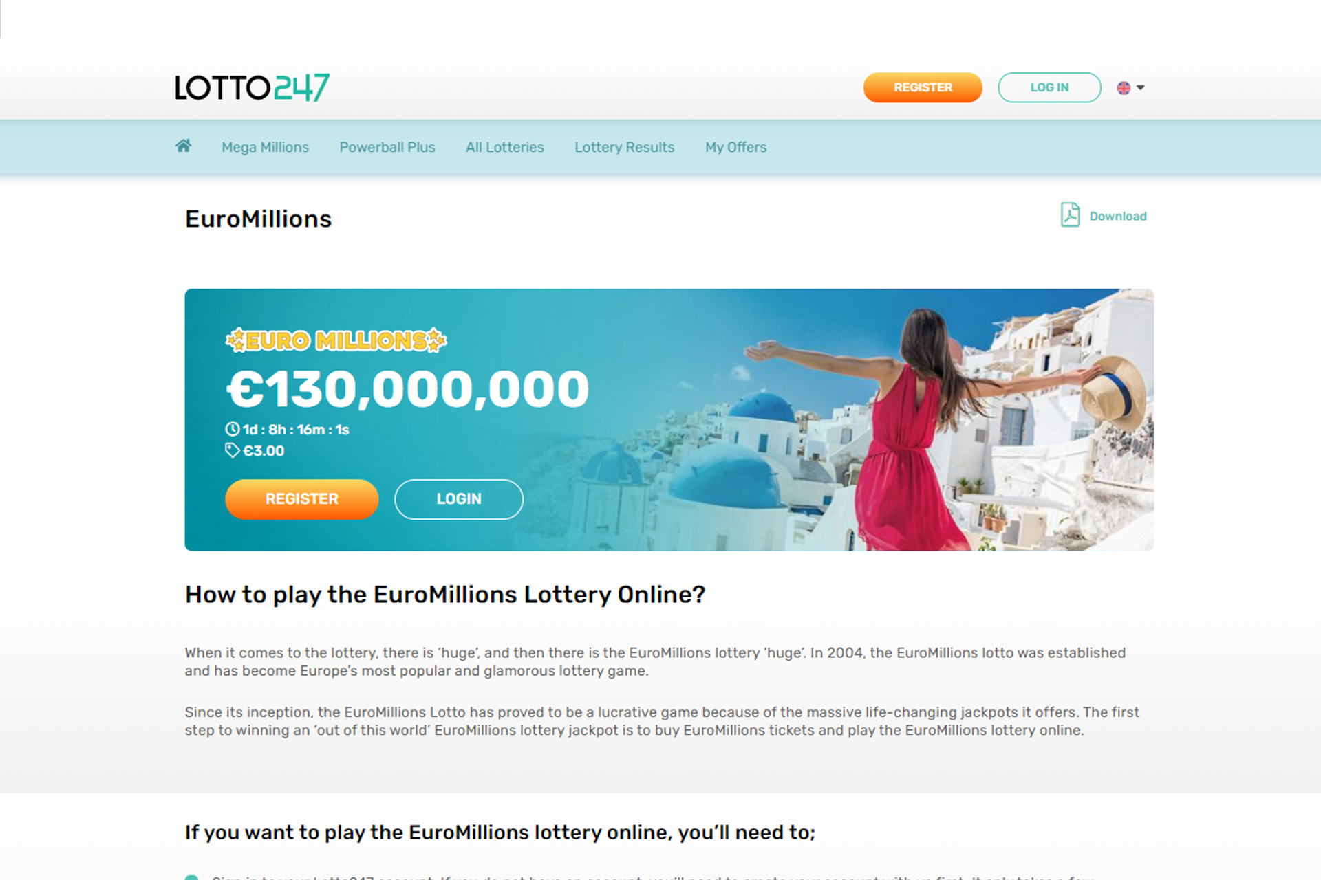 EuroMillions is a great chance to win a huge award of over 100 million euros.