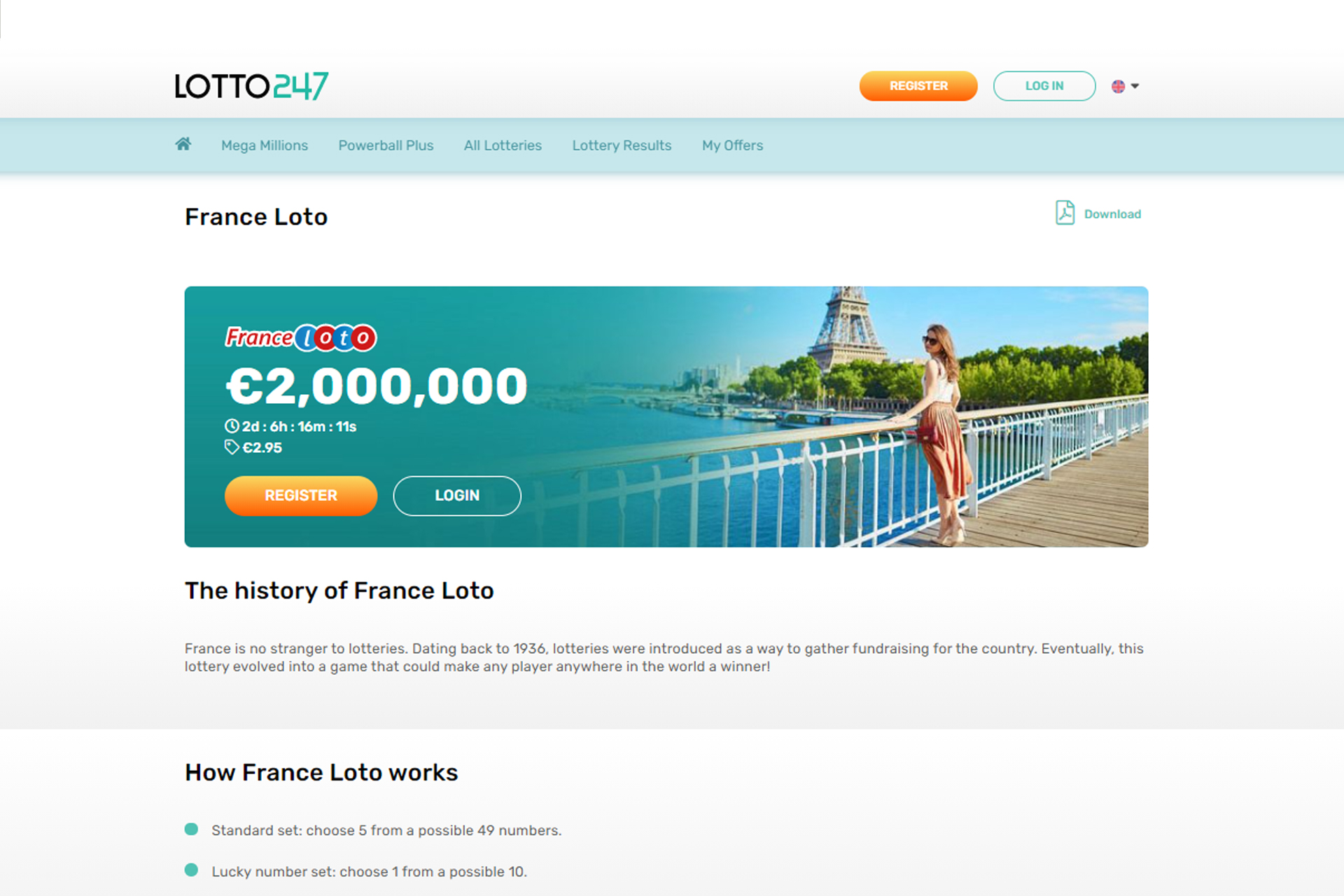 Check your luck in playing France Loto.