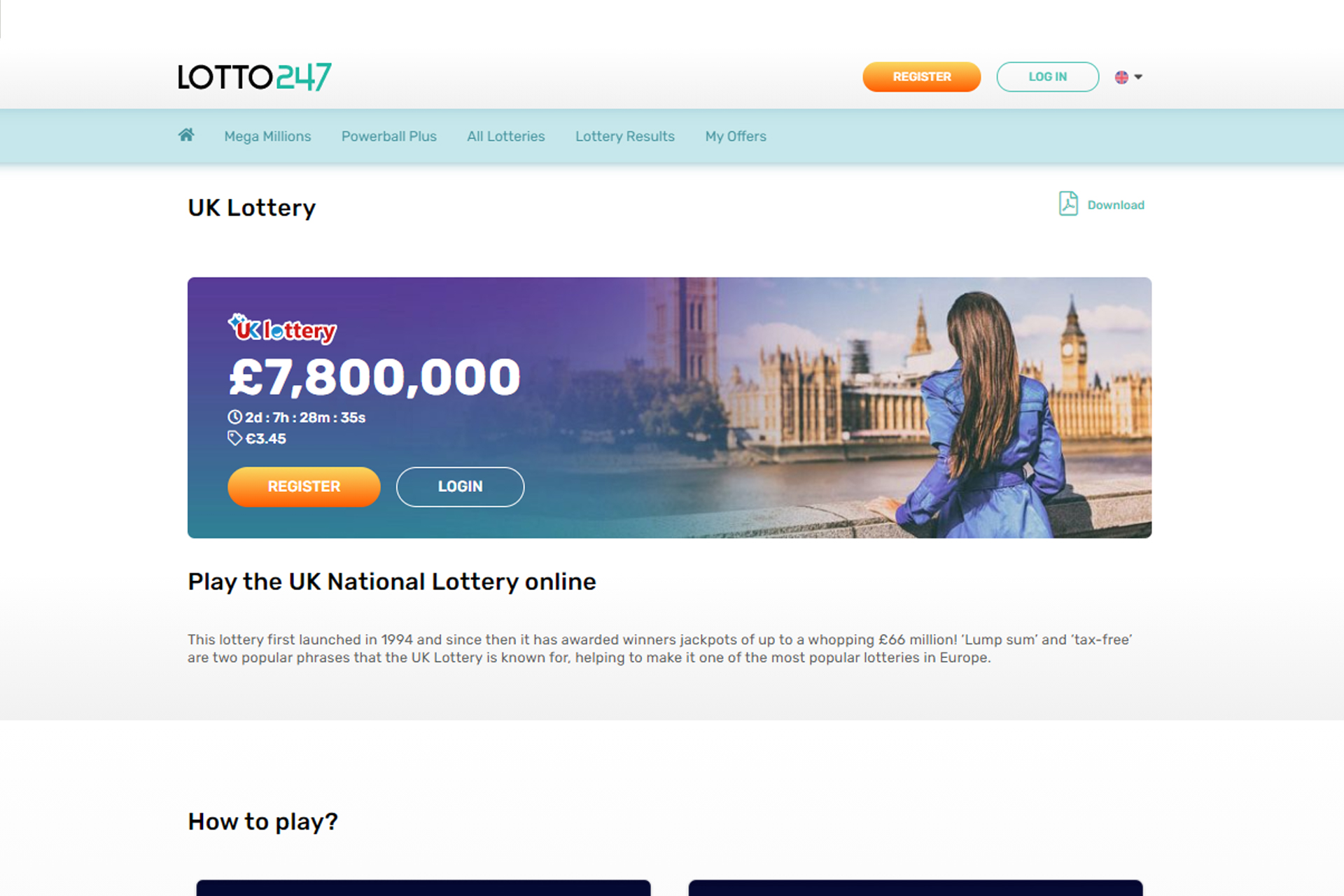 The entire award is paid out instantly for UK Lottery winners.