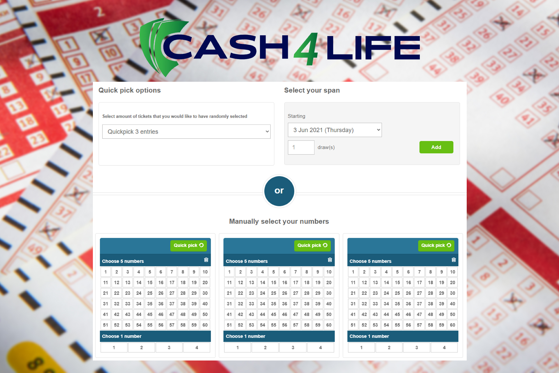Cash4Life is a unique lottery with its special rules.