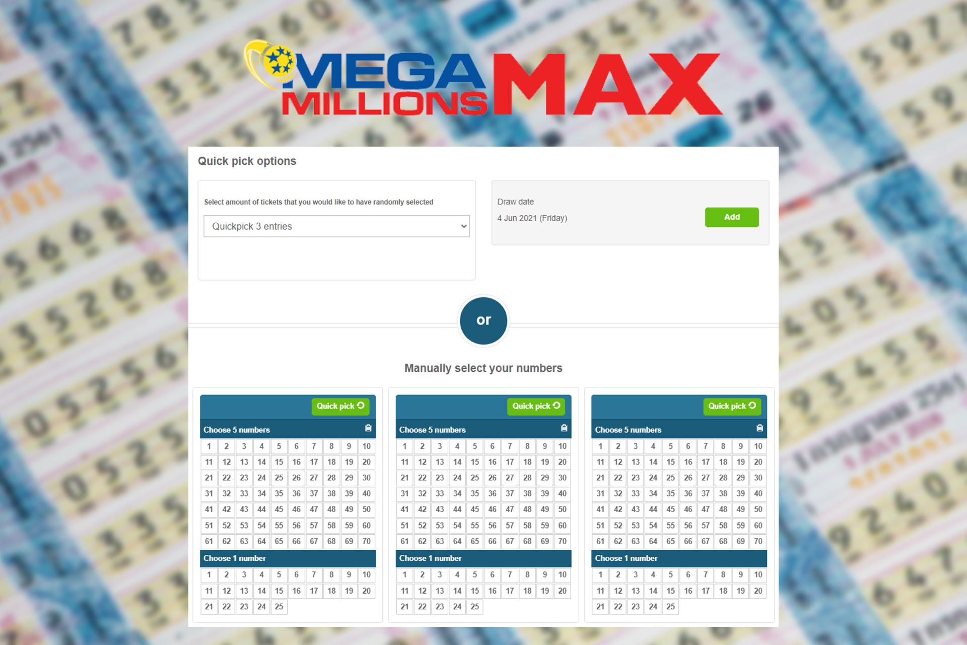 In Mega Millions Max, players win even bigger awards than in Mega Millions.