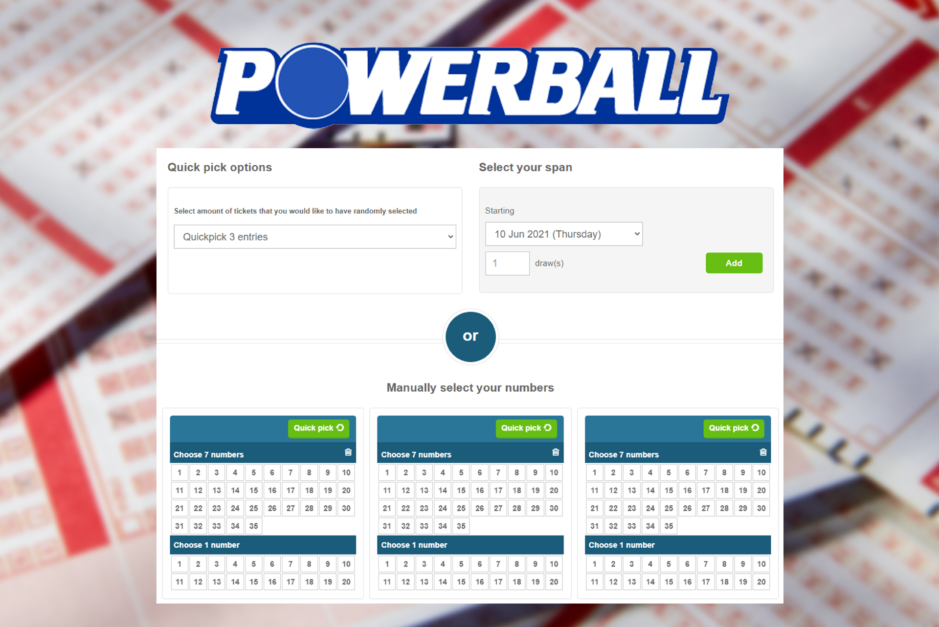 Oz Powerball is an Australian lottery with cheap tickets and a 3 million dollar jackpot.