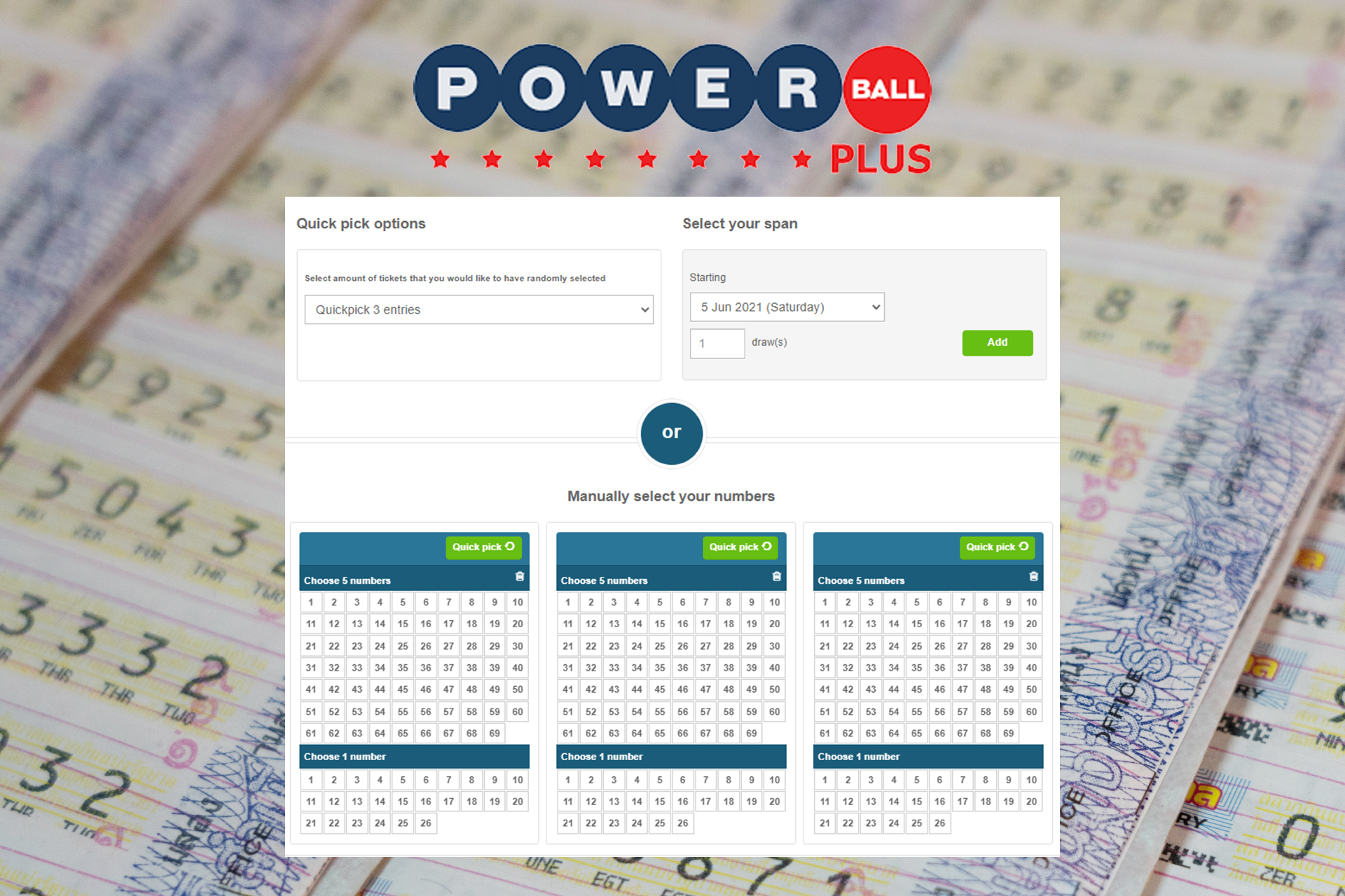 Powerball Plus awards are much bigger than Powerball's.