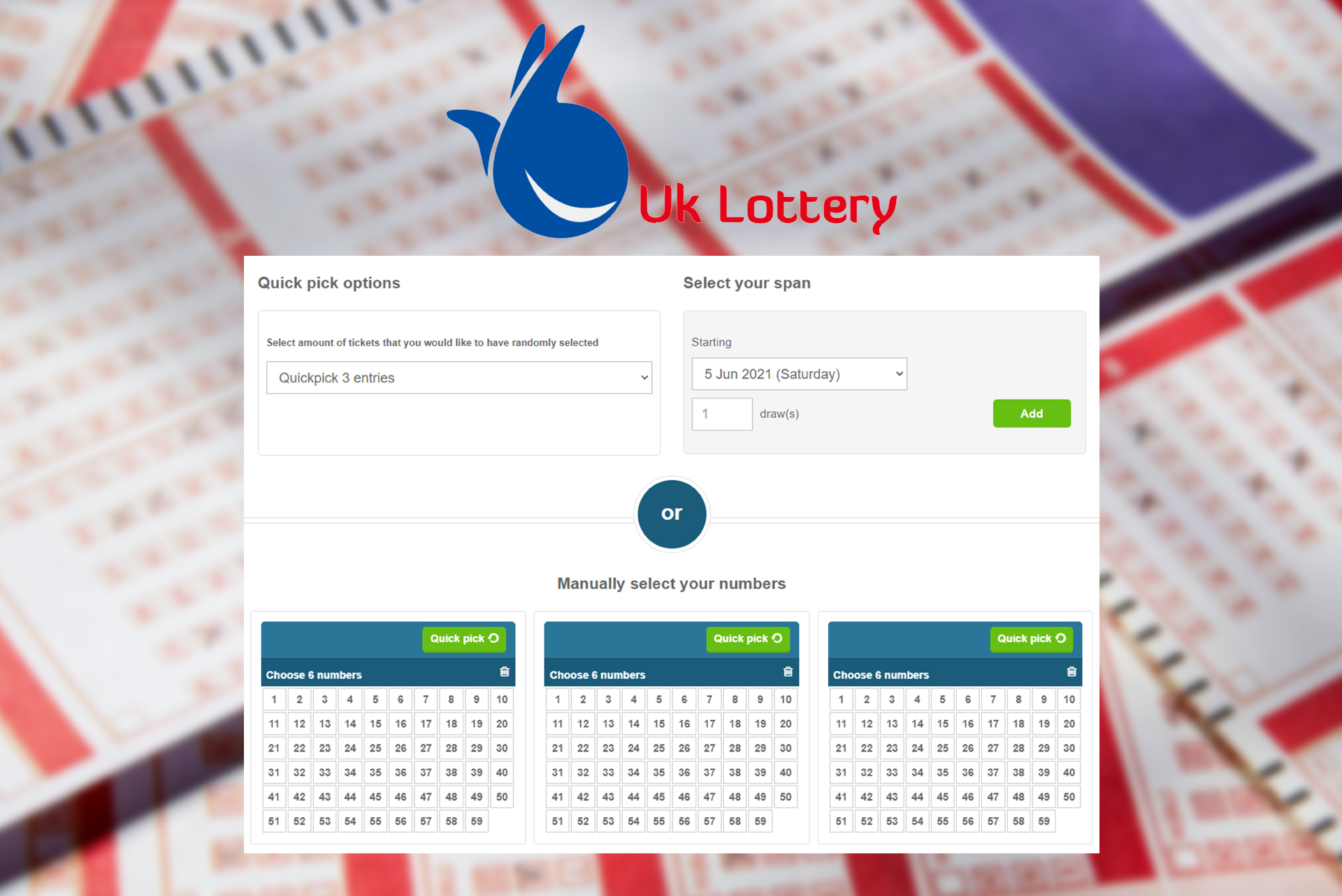 A British lottery with a tax exemption for winners.