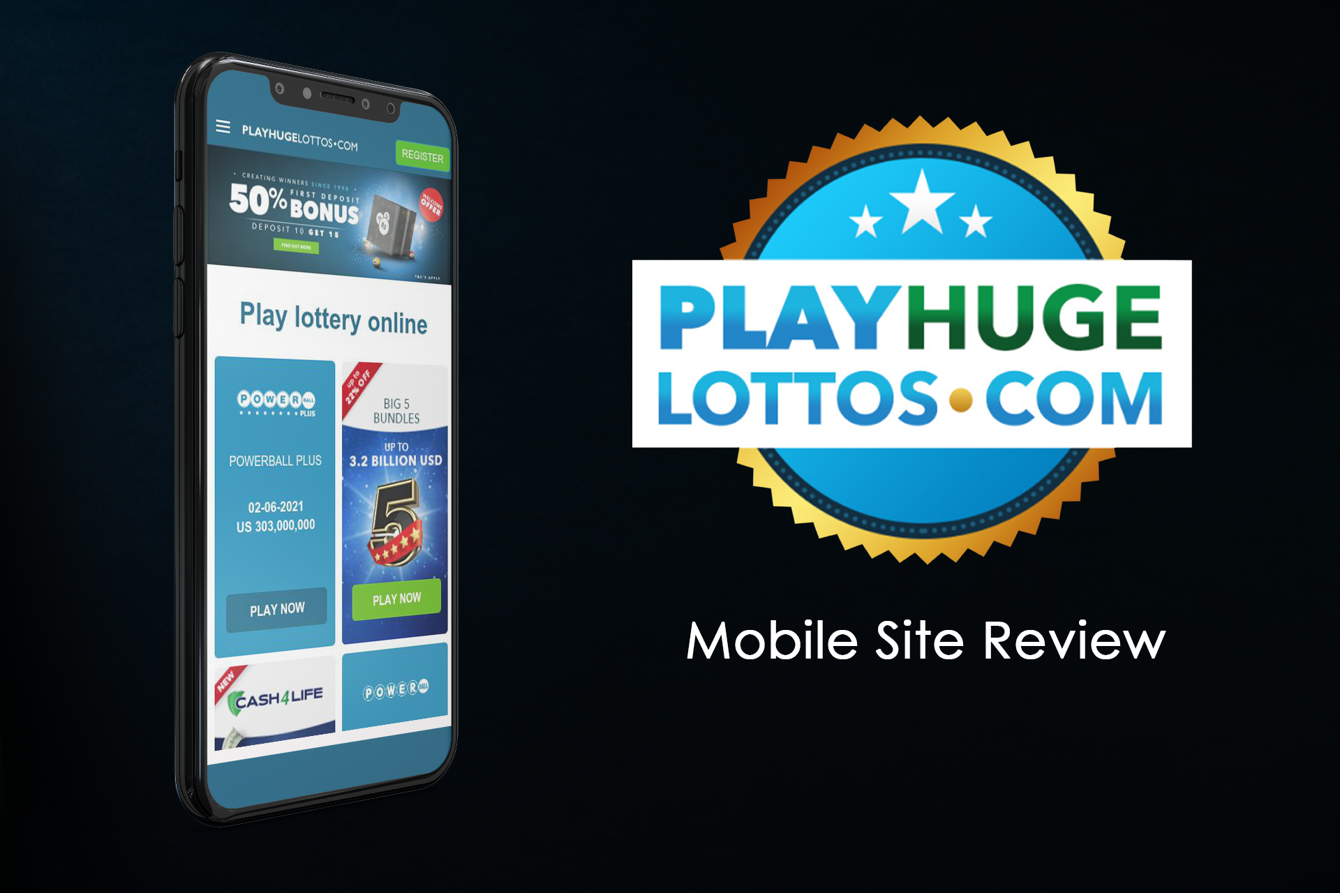 Buying and playing lotteries are available for people who prefer using smartphones to PC.