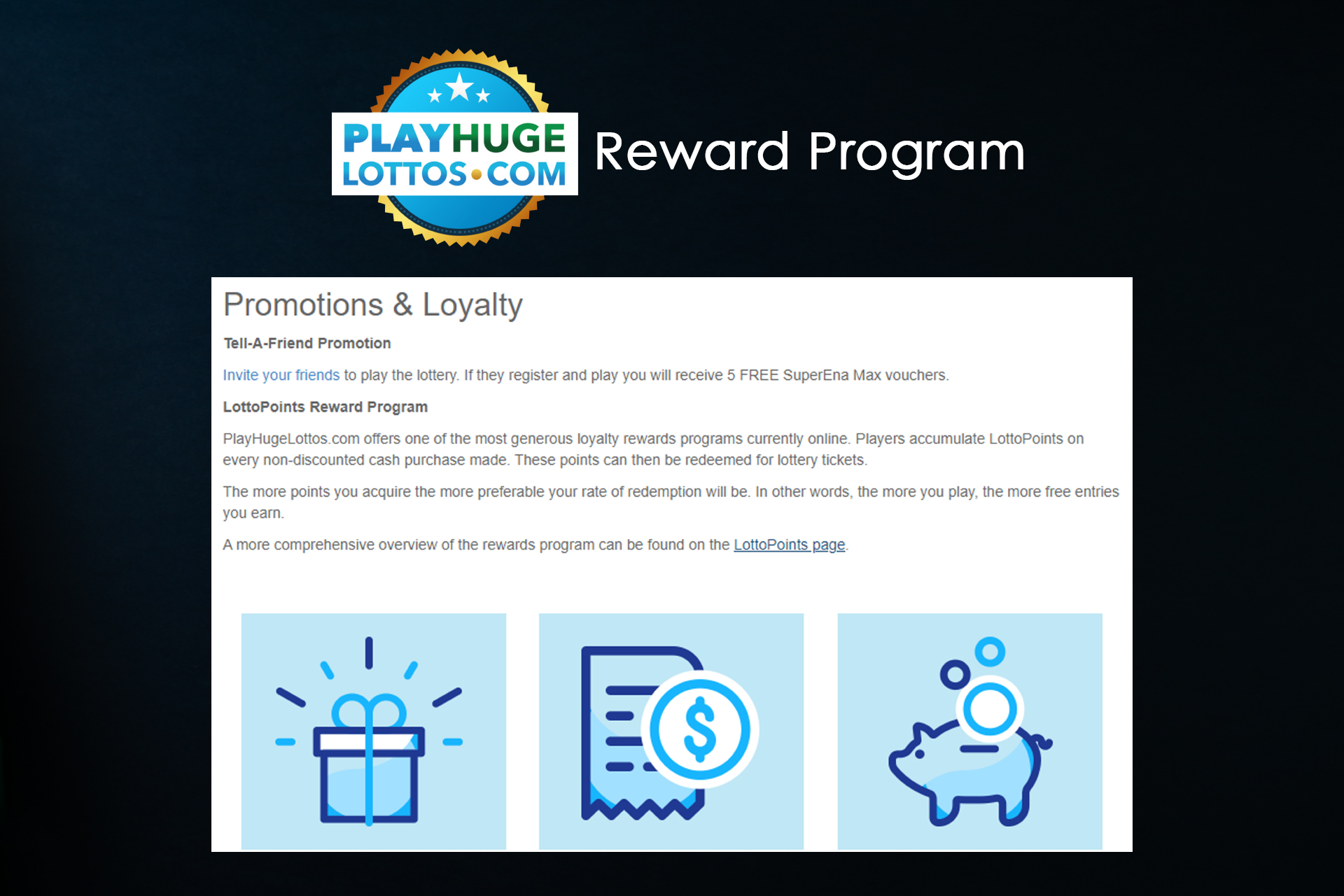 Read the terms and conditions of the Reward Program correctly to be able to receive bonuses.