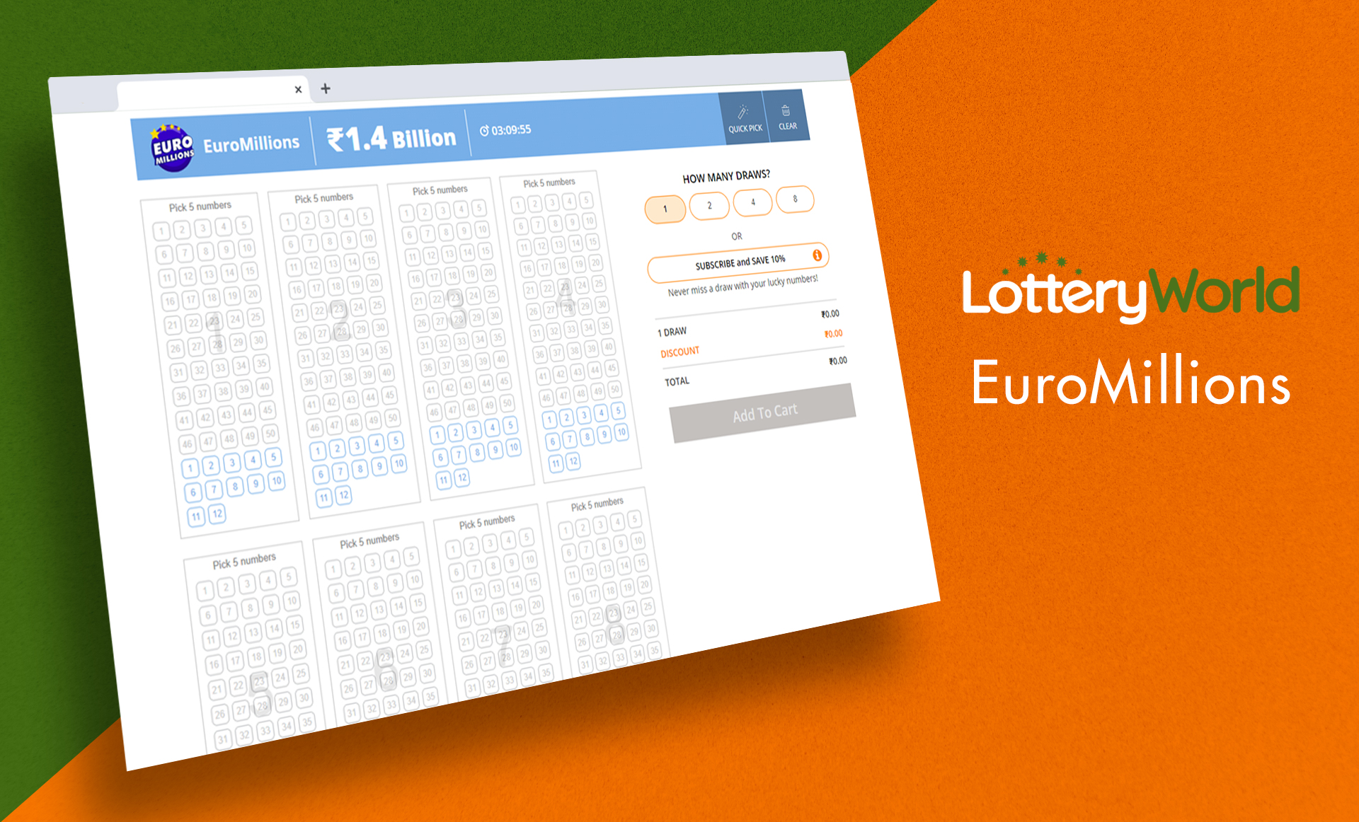 EuroMillions is another great lottery with a really huge jackpot.