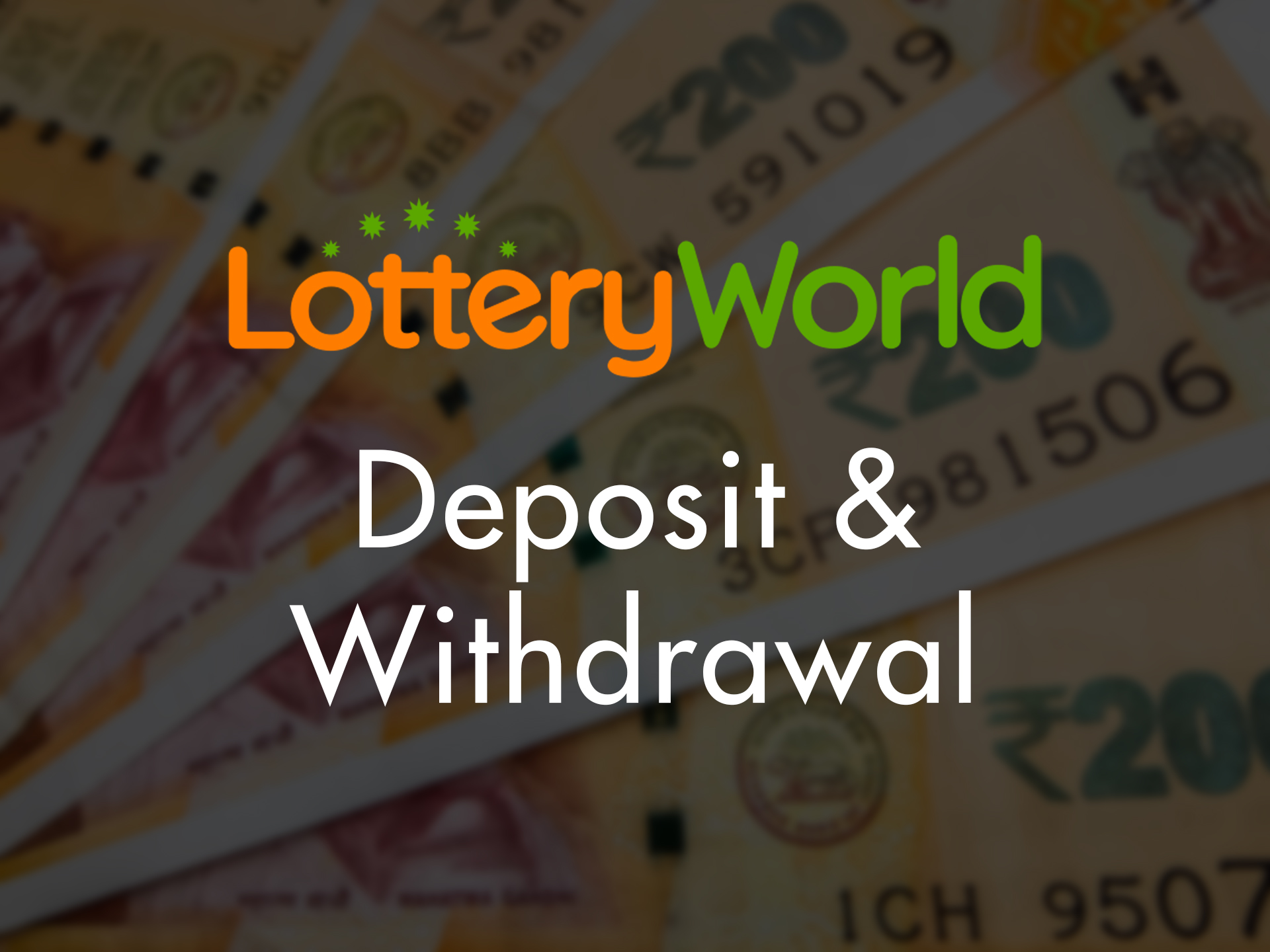 You can top up your account for buying lotteries with a bank card or e-wallet.