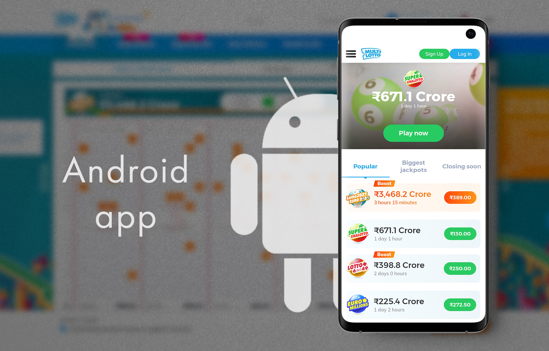 On the official page, you can download the Android app for your smartphone.