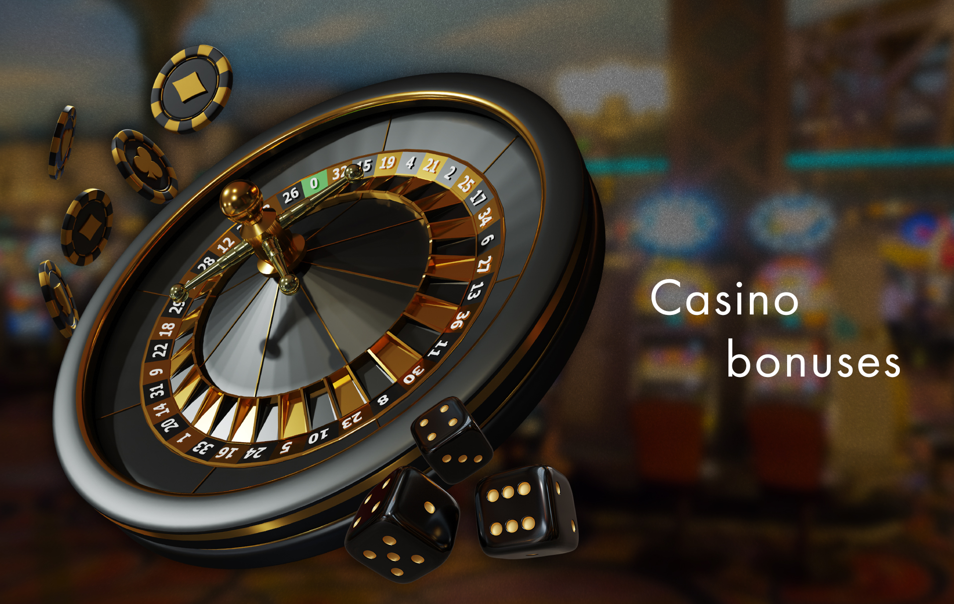 Some of the bonuses you can spend in the casino section.