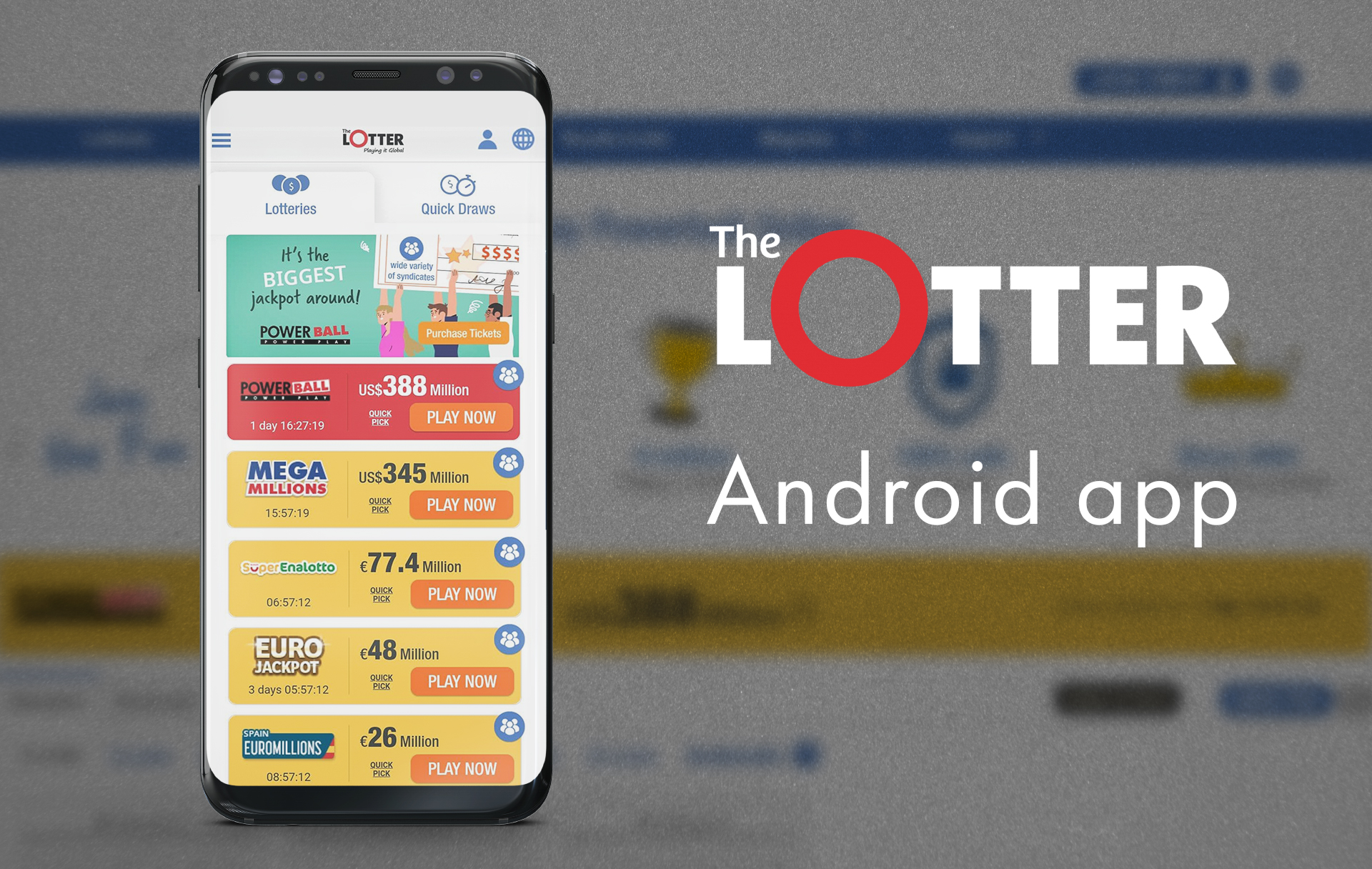 If you have a smartphone you can download the application from the official website of TheLotter.
