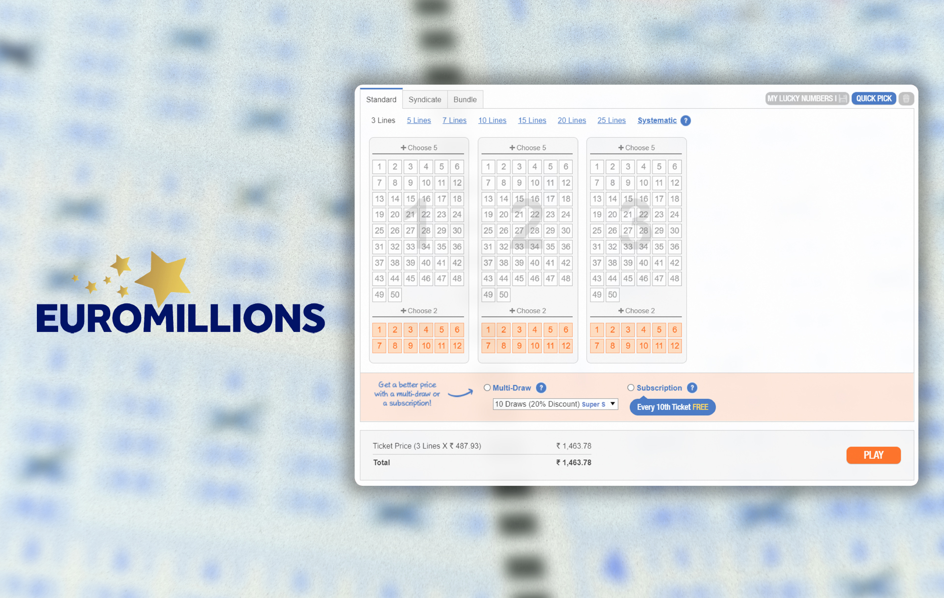 EuroMillions is another European popular lottery with a huge jackpot.